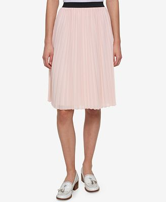 Tommy Hilfiger Pleated A-Line Skirt, Created for Macy's - Skirts ...