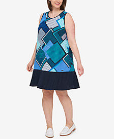 Tommy Hilfiger Plus Size Printed Trapeze Dress