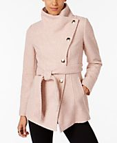 I.N.C. Textured Wrap Coat, Created for Macy's