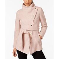 INC International Concepts Textured Wrap Coat Deals