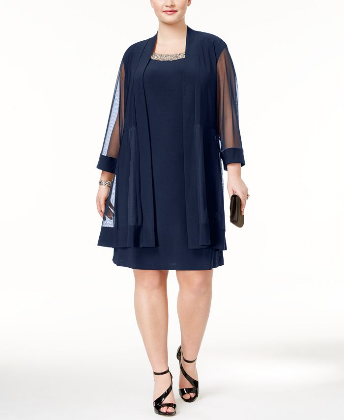 R & M Richards - Plus Size Shift Dress and Jacket