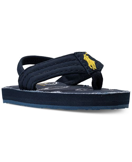 0509bdcd2 ... Polo Ralph Lauren Baby Boys  Theo Layette Flip-Flop Sandals from Finish  ...