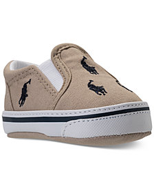 Polo Ralph Lauren Baby Boys' Bal Harbour Repeat Layette Slip-On Crib Casual Sneakers from Finish Line
