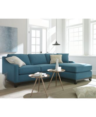 Keegan 90 2 Piece Fabric Sectional Sofa Custom Colors Furniture