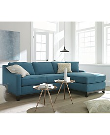 Keegan Fabric Sectional Sofa Living Room Furniture Collection Sets  Macy s