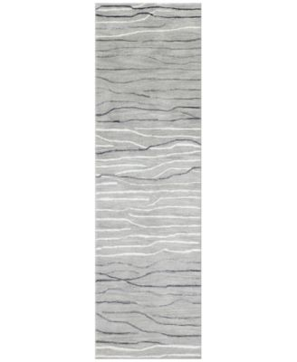 "Waves 2'6"" x 8' Runner Area Rug, Created for Macy's"