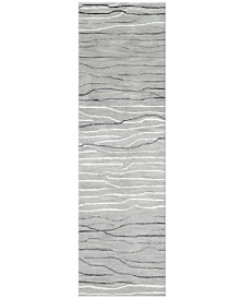 "Kenneth Mink Waves 2'6"" x 8' Runner Area Rug"
