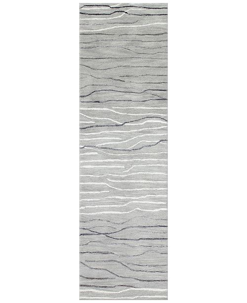 Kenneth Mink Waves 2 6 X 8 Runner Area Rug Created For Macy S