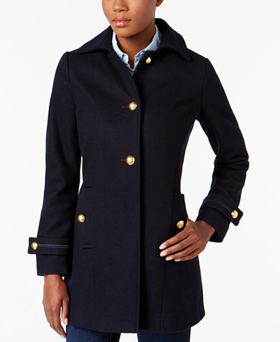 Nautica Button-Front Military Peacoat