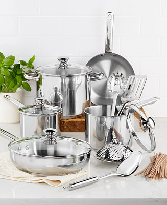 Tools Of The Trade Stainless Steel 13 Pc Cookware Set