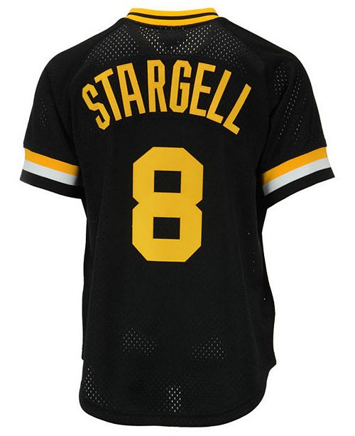 3f072a982 ... Mitchell   Ness Men s Willie Stargell Pittsburgh Pirates Authentic Mesh  Batting Practice V-Neck Jersey ...