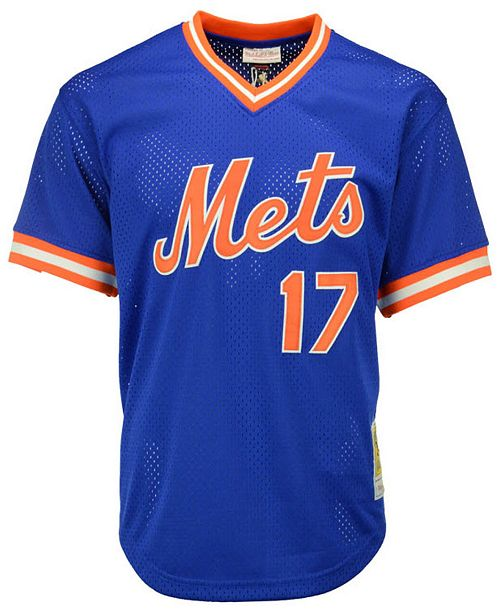 sports shoes 21236 7254e Men's Keith Hernandez New York Mets Authentic Mesh Batting Practice V-Neck  Jersey