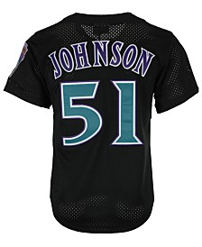 Mitchell & Ness Men's Randy Johnson Arizona Diamondbacks Authentic Mesh Batting Practice V-Neck Jersey
