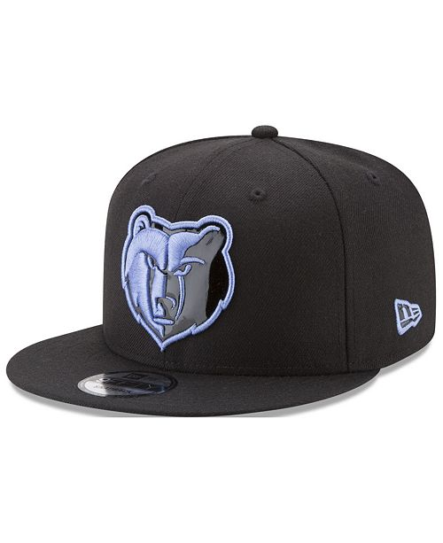innovative design 3ca4a f6ad3 New Era Memphis Grizzlies Patent Blackout 9FIFTY Snapback Cap ...