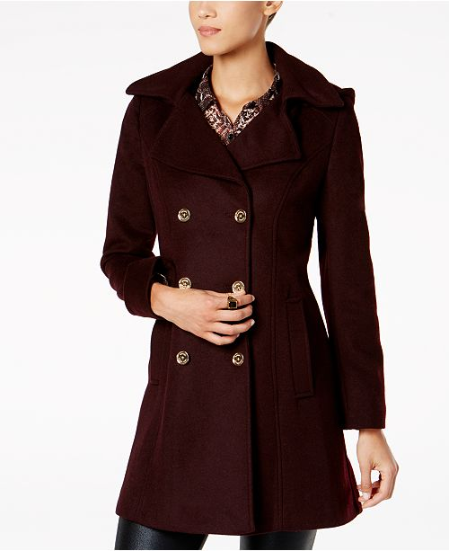 89ffbced5f4bb Michael Kors Double-Breasted Peacoat   Reviews - Coats - Women - Macy s