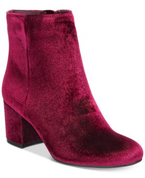 Rebel by Zigi Nanon Block-Heel Booties Women