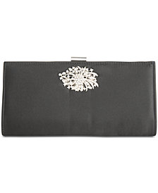 Adrianna Papell Satin Stacee Small Clutch