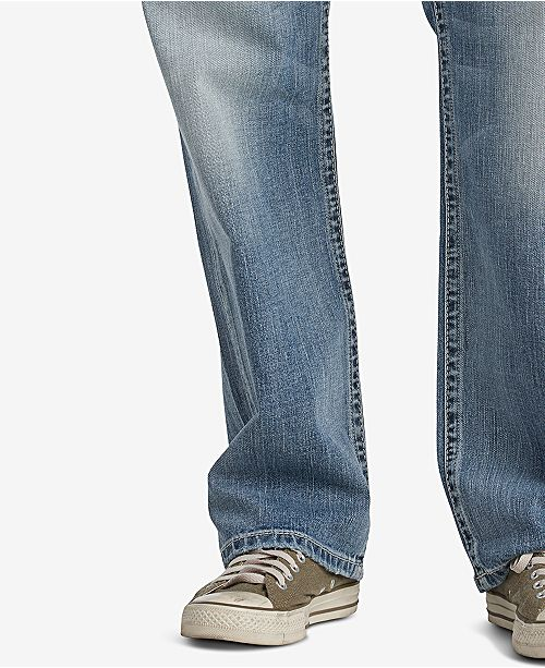 b3348b41 Men's Gordie Loose Fit Straight Stretch Jeans; Silver Jeans Co. Men's Gordie  Loose Fit Straight Stretch Jeans ...