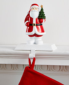 Holiday Lane Santa With Tree Stocking Holder, Created for Macy's