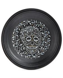 Fiesta Skull and Vine Chop Plate
