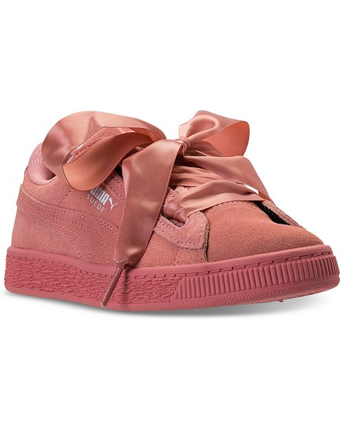 e3a33060dfd ... Puma Little Girls  Suede Heart Casual Sneakers from Finish Line ...