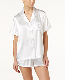 Linea Donatella Bride-Embroidered Boyfriend Short Pajama Set