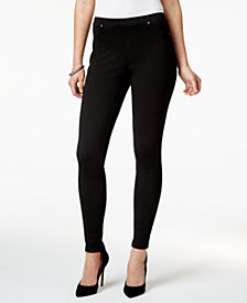 Style & Co Petite Twill Pull-On Leggings, Created for Macy's