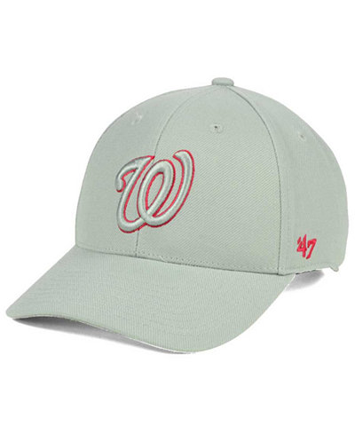 '47 Brand Washington Nationals MVP Gray TC Pop Cap