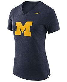 Women's Michigan Wolverines Fan V Top T-Shirt