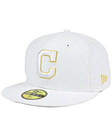 New Era Cleveland Indians White On Metallic 59FIFTY Cap