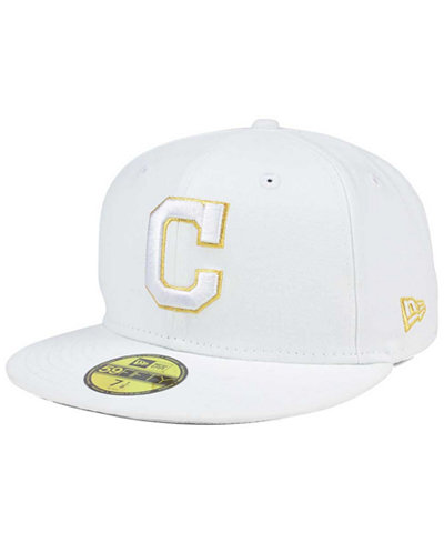 innovative design 200f3 53b0a ... official store new era cleveland indians white on metallic 59fifty cap  6a0e1 175d7