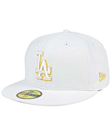 New Era Los Angeles Dodgers White On Metallic 59FIFTY Cap