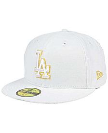 New Era Los Angeles Dodgers White On Metallic 59FIFTY Cap
