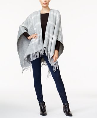 Charter Club Reversible Plaid Cape, Created for Macy's