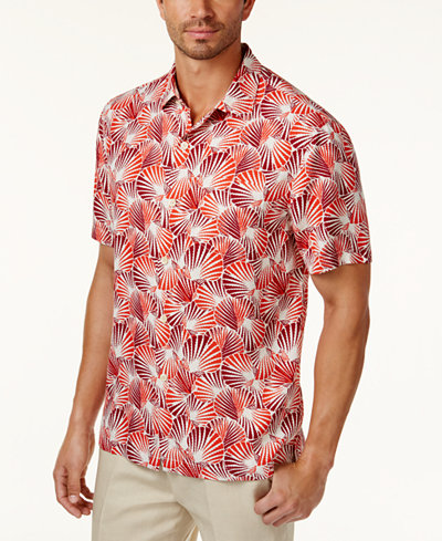 Tommy bahama men 39 s shell we dance shirt casual button for Custom tommy bahama shirts