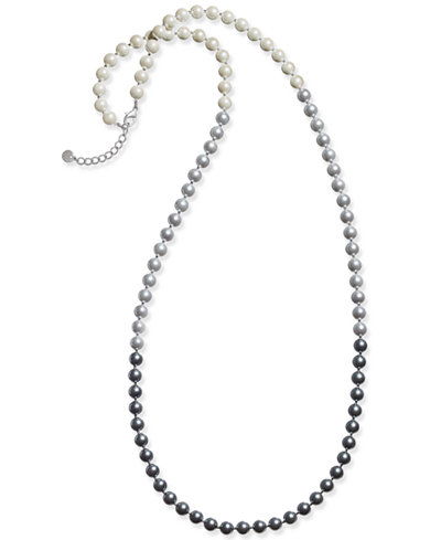 Charter Club Ombré Beaded Long Necklace, Created for Macy's