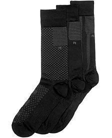 Perry Ellis Men's 3-Pk. Microfiber Diamond Casual Socks