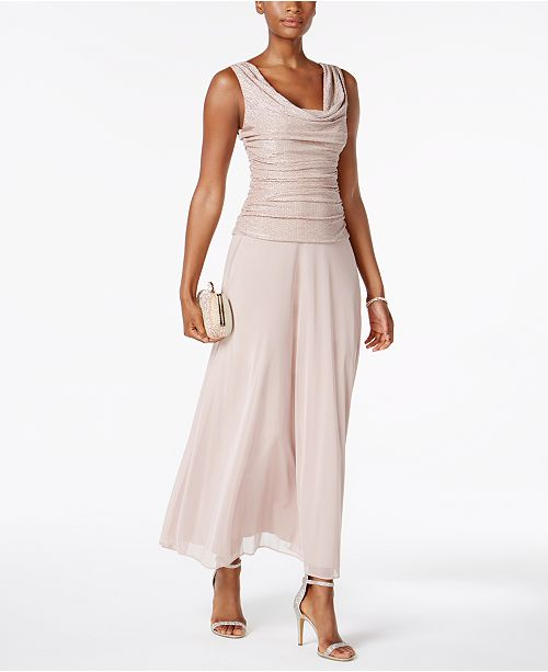 R Richards A amp; Gown Petite M Blush Line Metallic fP6zAwfrq