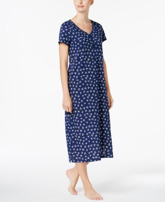 charter club printed cotton knit nightgown created for macyu0027s - Flannel Nightgowns