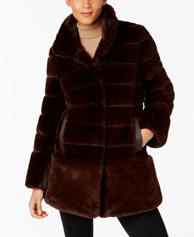 Jones New York Faux-Fur Coat - Coats - Women - Macy's