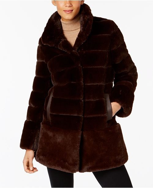 f9f2ddd2dd0 Jones New York Faux-Fur Coat   Reviews - Coats - Women - Macy s