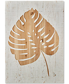 Graham & Brown Tropical Leaf Wood Panel Wall Art