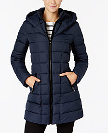 I.N.C. Layered Puffer Coat, Created for Macy's