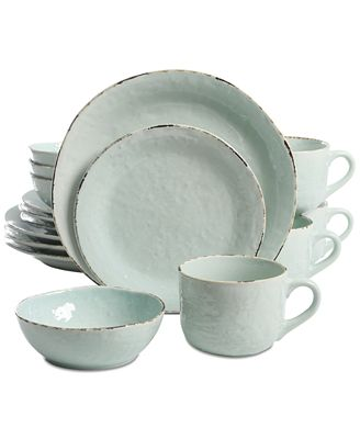 Laurie Gates Spoleto Green 16 Pc Dinnerware Set Dinnerware