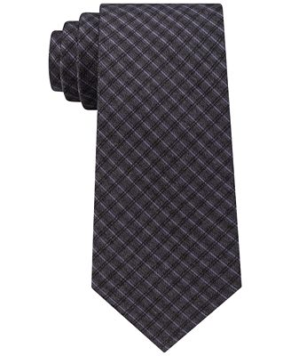 Calvin Klein Men's Mini Soft Check Tie