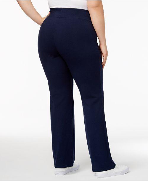 4dcf2cebc2b Style   Co Plus Size Tummy-Control Bootcut Yoga Pants