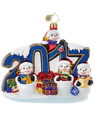 Christopher Radko This Year Was Big! 2017 Ornament