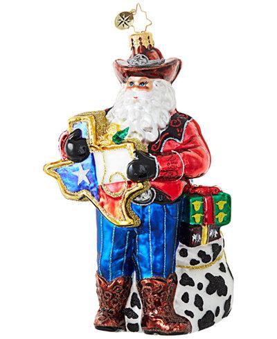 Christopher Radko Everything's Bigger in Texas! Ornament