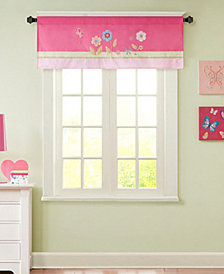 "Mi Zone Kids' Spring Bloom 50"" x 18"" Floral Appliqué Valance"