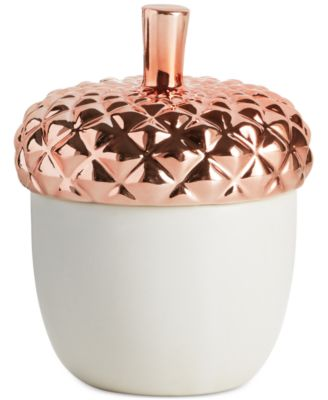 Harvest Copper Leaves Ceramic Candle